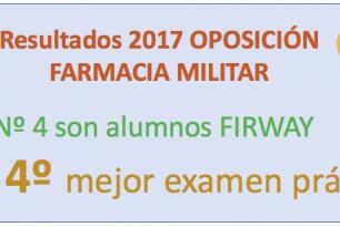 2 PLAZAS DE 7 EN FARMACIA MILITAR 2017