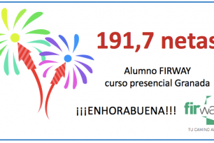 Un alumno FIRWAY consigue 191,7 netas en el examen FIR